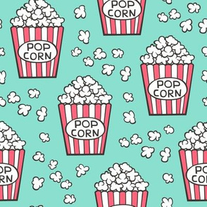 Popcorn on Mint Green