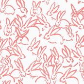 blush bunnies blush rabbits blush fabric bunny rabbits