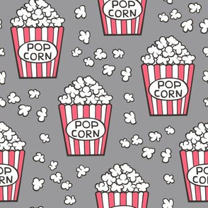 Popcorn on Grey