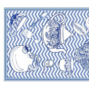 Mousehaus Teatime Blue Zig Zag