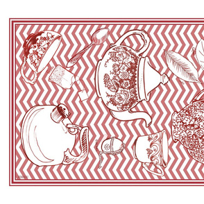 Mousehaus Teatime Red Zig Zag