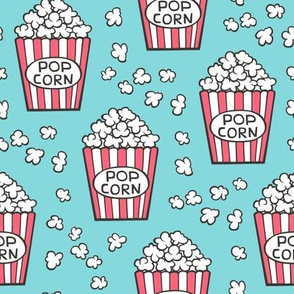 Popcorn on Blue