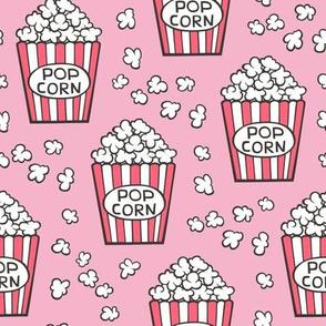 Popcorn on Pink
