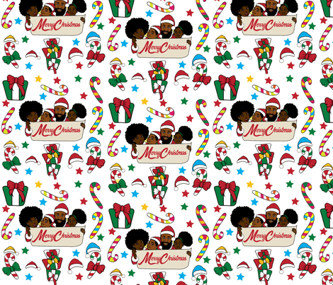 a soulful christmas 2 fabric by focsi on spoonflower custom fabric