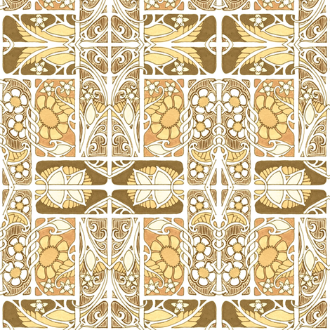 Invasion of the 1913  Aesthetic into 2018 fabric by edsel2084 on Spoonflower - custom fabric