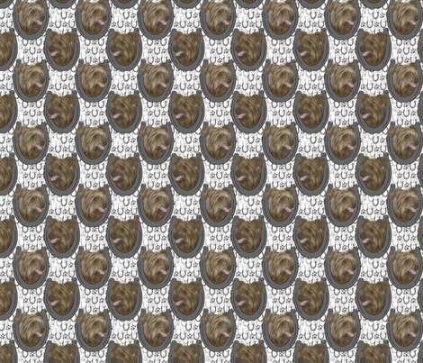 Pyrenean Shepherd horseshoe portraits C - small fabric by rusticcorgi on Spoonflower - custom fabric