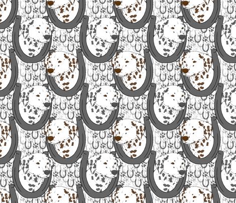 Dalmatian horseshoe portraits B fabric by rusticcorgi on Spoonflower - custom fabric
