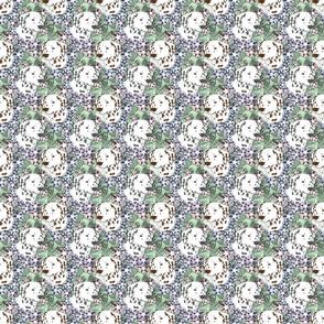 Floral Dalmatian portraits B - small
