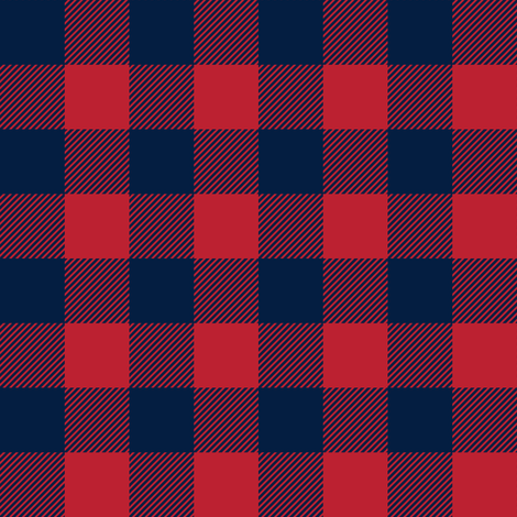 "buffalo plaid - red & navy 1"" fabric by littlearrowdesign on Spoonflower - custom fabric"