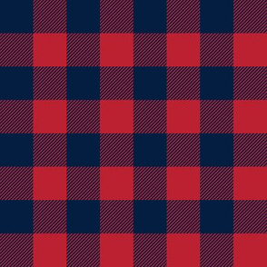 buffalo plaid - red & navy 1""