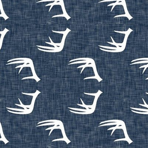 antlers on navy linen (90)