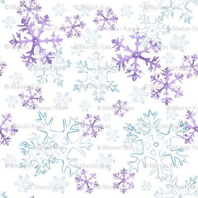 LET IT SNOW - PURPLE
