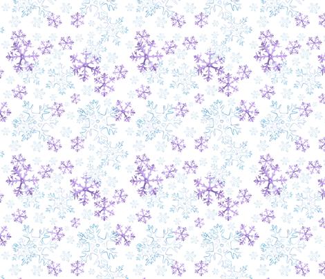 LET IT SNOW - PURPLE fabric by dearfebe on Spoonflower - custom fabric