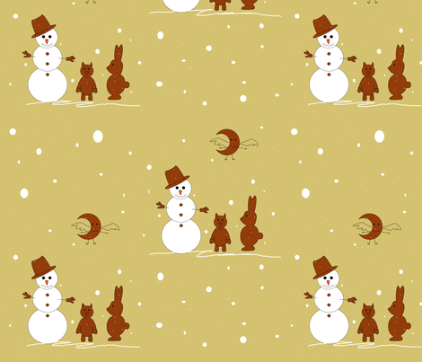 gingerbread_gmaija fabric by g_maija on Spoonflower - custom fabric