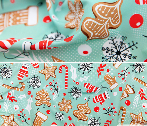 Gingerbread Dreams - Aqua