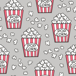 Popcorn on Light Grey