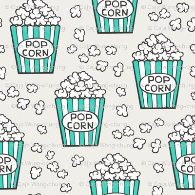 Popcorn Green on Cloud Grey