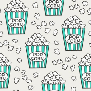 Popcorn Green on Cloud Grey