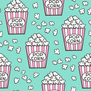 Popcorn Pink on Mint Green