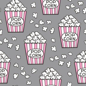 Popcorn Pink on Grey