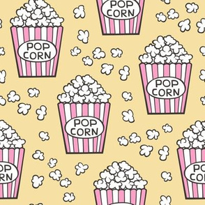 Popcorn Pink on Yellow