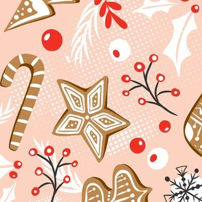 Gingerbread Dreams - Blush Pink