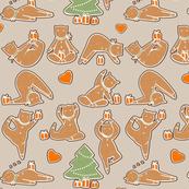Christmas cookie yoga