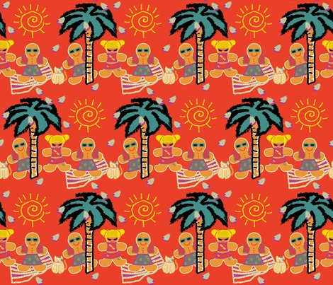 R111217__new_use_gingerbread_man_with_friends_at_beach_on_solid_orange_red_a_shop_preview