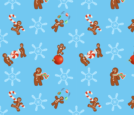 Impish Gingerbread Men fabric by wheresmyale on Spoonflower - custom fabric