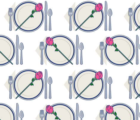 dinner rose fabric by hannafate on Spoonflower - custom fabric