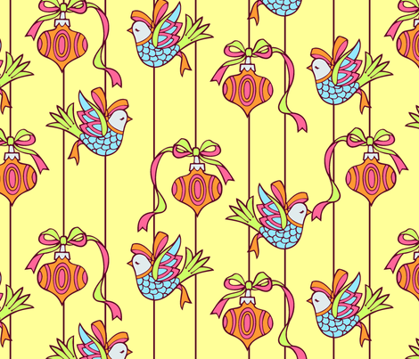 Sixties style ornaments fabric by hannafate on Spoonflower - custom fabric