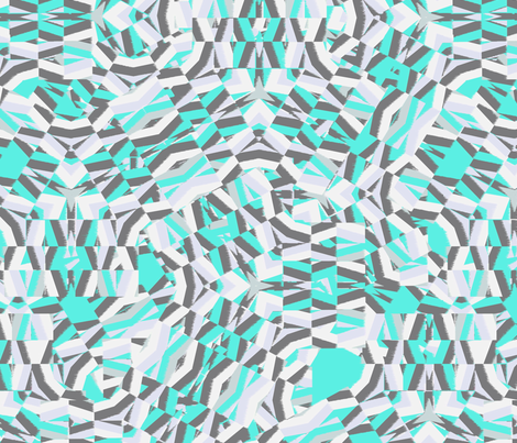 Large Scale Ikat Fragment fabric by pixabo on Spoonflower - custom fabric