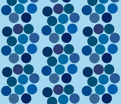 BlueDots fabric by creativespaces on Spoonflower - custom fabric
