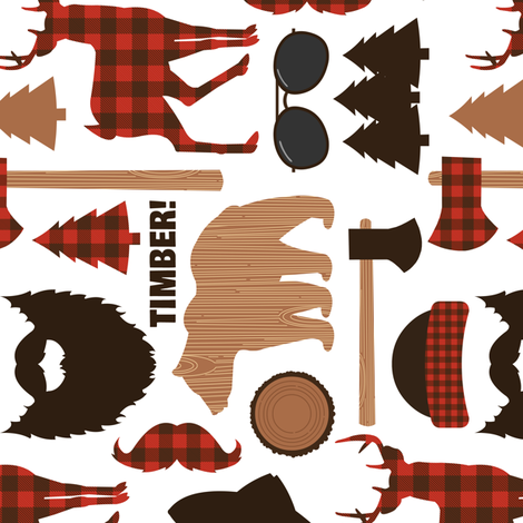 Lumberjack Mountain Vertical fabric by jannasalak on Spoonflower - custom fabric