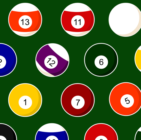 Pool Balls Billiards fabric by jannasalak on Spoonflower - custom fabric