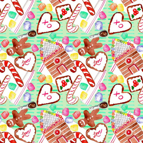 gingerbread cookie pattern spoonflower