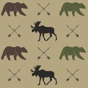 moose bear and arrows - C2