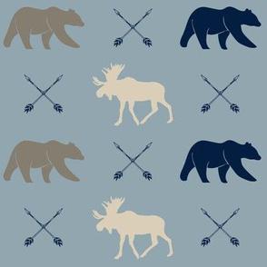 rustic woods - moose bear and arrows