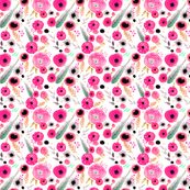 pink floral repeat pattern