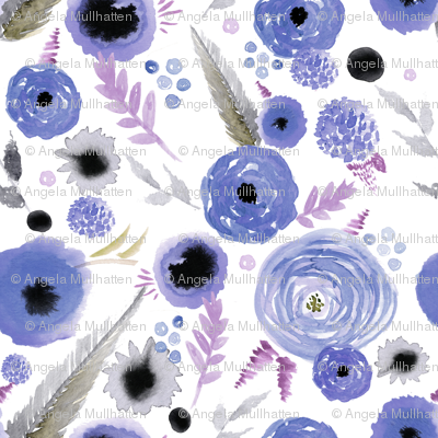 lavender floral repeat pattern