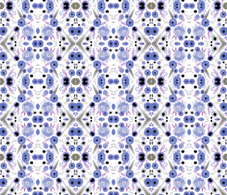 lavender floral repeat pattern fabric by artgirlangi on Spoonflower - custom fabric