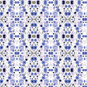 lavender floral repeat pattern