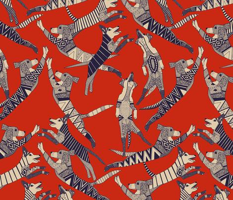 dog party retro fabric by scrummy on Spoonflower - custom fabric
