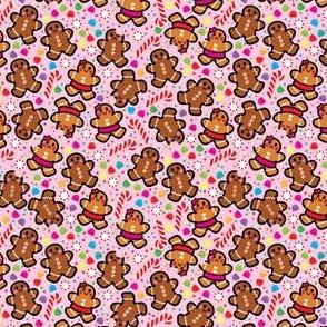 aloha gingerbread cookies on pink