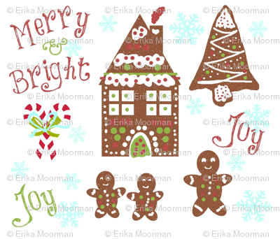 gingerbread Joy - Merry & Bright-candy cane snow