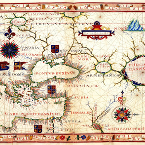 "1570 Map of Armenia (54""W)"