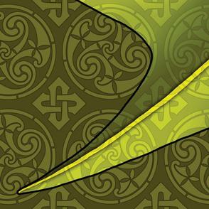 Dragon Flag Wide 54x72 olive CMYK