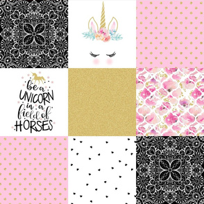 Be a Unicorn - Wholecloth Cheater Quilt