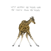 giraffe - nursery quote pillow