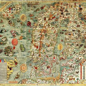 "1539 Map of Scandinavia (42""W)"